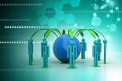 Pojęcie globalnego biznesu sieć Fotografia Stock