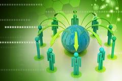 Pojęcie globalnego biznesu sieć Fotografia Royalty Free
