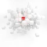 Pojęcie gmeranie dla pomysłów. Inspiration.3D odpłacają się. Fotografia Royalty Free