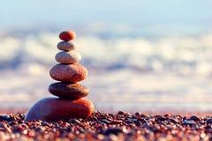 Pojęcie harmonia i równowaga spokojny wieczór zdjęcia stock