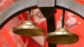 Pojęcie harmonii buddhism dzwonów zbliżenie zdjęcie wideo