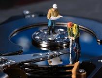 Pojęcie ilustracja sztuczna inteligencja lub dane kopalnictwo używać dyska twardego fotografia stock