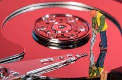 Pojęcie ilustracja sztuczna inteligencja lub dane kopalnictwo używać dyska twardego zdjęcie royalty free