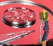 Pojęcie ilustracja sztuczna inteligencja lub dane kopalnictwo używać dyska twardego obrazy royalty free