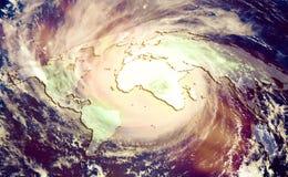 Pojęcie katastroficza zmiana klimatu fotografia stock