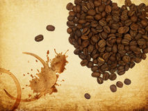 pojęcie kawowa miłość Zdjęcie Royalty Free