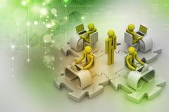 Pojęcie komunikacja biznesowa Zdjęcie Stock