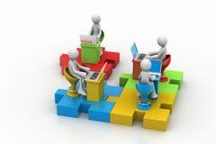 Pojęcie komunikacja biznesowa Obrazy Stock