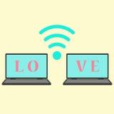 Pojęcie komunikacja w miłości royalty ilustracja