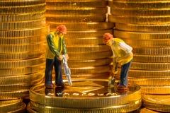 Pojęcie kopalnictwo nowe ethereum cyber waluty monety obrazy stock