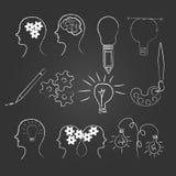 Pojęcie kreatywnie pomysłu i ikony kolekcja Zdjęcia Stock