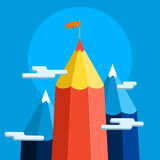Pojęcie kreatywnie sukces Bramkowy osiągnięcie royalty ilustracja