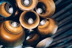 Pojęcie lampy w wnętrzu zdjęcia royalty free