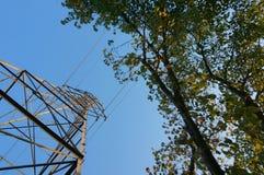 Pojęcie - Ludzkie potrzeby energii vs środowisko Obrazy Stock