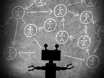 Pojęcie maszynowy uczenie ulepszać sztuczną inteligencję obrazy royalty free