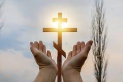 Pojęcie modlitwa fotografia stock