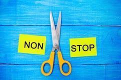Pojęcie motywacja wpisowi ` non przerwy nożyce między one i ` bramkowy osiągnięcie, potencjalny pokonywanie obrazy royalty free