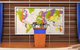 Pojęcie mowa Konferencyjni spotkanie mikrofony ilustracji