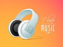 Pojęcie muzyka z hełmofonem Zdjęcie Stock
