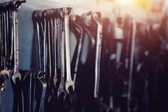 Pojęcie naprawa w garażu obrazy royalty free