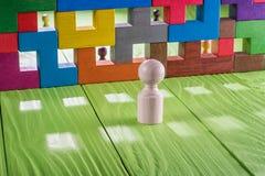 Pojęcie nieporozumienie, bariera w powiązaniach Zdjęcie Stock