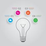 Pojęcie nowożytny infographics z cztery opcjami Obrazy Stock