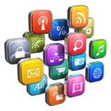 pojęcie obłoczne ikony programują oprogramowanie Zdjęcie Stock