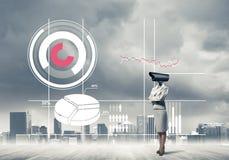 Pojęcie ochrony i prywatności ochrona z kamerą przewodził wo Obraz Stock