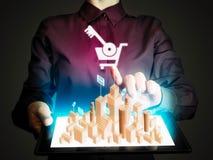 Pojęcie online pośrednik handlu nieruchomościami Obrazy Stock