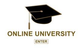 Pojęcie online uniwersytet ilustracji
