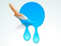 Pojęcie Paintbrush z obcieknięcie farbą Zdjęcie Stock
