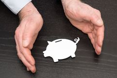 Pojęcie pieniądze ochrona zdjęcie stock