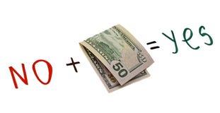 Pojęcie - pieniądze rozmowy Zdjęcia Stock