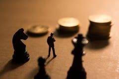 Pojęcie pieniężna biznesowa rywalizacja Zdjęcie Royalty Free