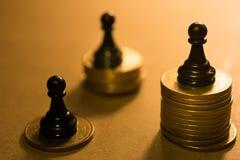 Pojęcie pieniężna biznesowa rywalizacja Fotografia Royalty Free