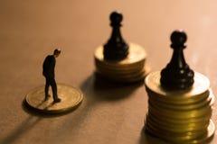 Pojęcie pieniężna biznesowa rywalizacja Zdjęcie Stock