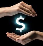 Pojęcie pieniężna ochrona, inwestorska ochrona Obrazy Stock