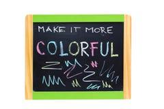 Pojęcie pisać z kredą na blackboard Fotografia Stock