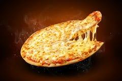 Pojęcie plakat dla pizzeria menu z i, obraz royalty free