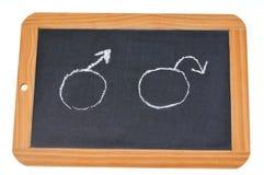 Pojęcie plciowa impotencja z szkolnym łupkiem royalty ilustracja