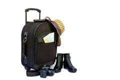 Pojęcie podróżować z walizką Obraz Stock