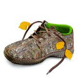 Pojęcie pojęcia eco życzliwi buty Obrazy Stock