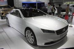 Pojęcie pojazd w Międzynarodowym zaawansowany technicznie expo obrazy royalty free