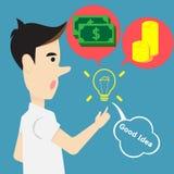 Pojęcie pomysłu twórczość dla pieniądze i sukcesu royalty ilustracja