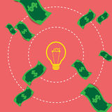 Pojęcie pomysły i innowacja Wekslowy pieniądze ilustracja wektor