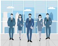 Pojęcie praca zespołowa Mężczyzna i kobiety w biurze Set ludzie biznesu, biuro drużyna Obrazy Stock
