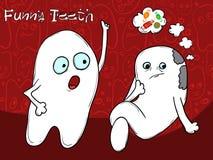 Pojęcie Problemowy ząb Amatorski słodki cukierek Ja jest konieczny szczotkować twój zęby wektor Fotografia Royalty Free