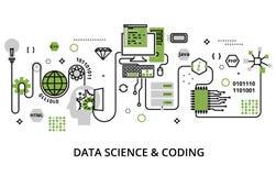 Pojęcie programowanie, rozwoju oprogramowanie i cyfrowanie proces, ilustracja wektor