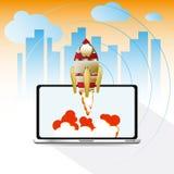 Pojęcie Projekt zaczyna up - wszczyna ilustrację na żółtym backgr Obraz Royalty Free