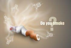 Pojęcie przeciw paleniu cigare tte krupony ilustracja wektor